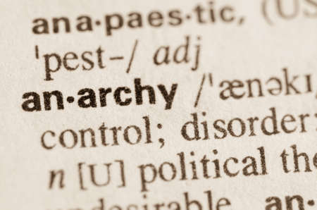 anarchy: Definition of word anarchy in dictionary