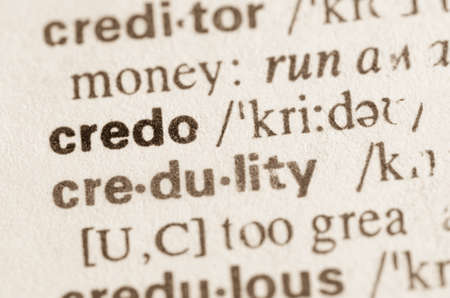 credo: Definition of word credo in dictionary