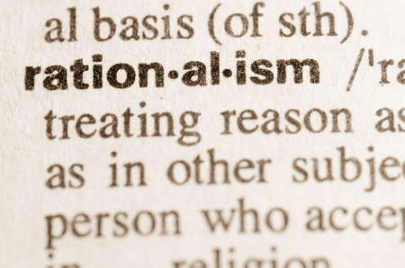 rationalism: Definition of word rationalism in dictionary Stock Photo