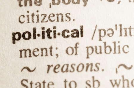 Definitie van woord politiek in woordenboek