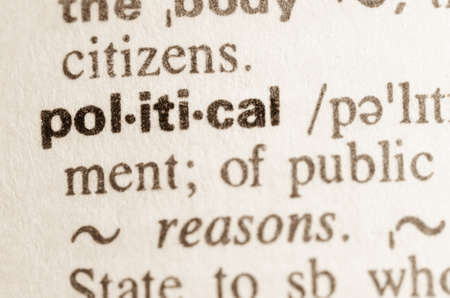 lexical: Definition of word political in dictionary