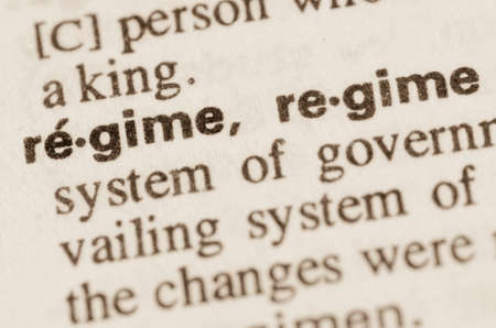 regime: Definition of word regime in dictionary