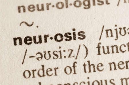 n�vrose: D�finition du terme de n�vrose dans le dictionnaire
