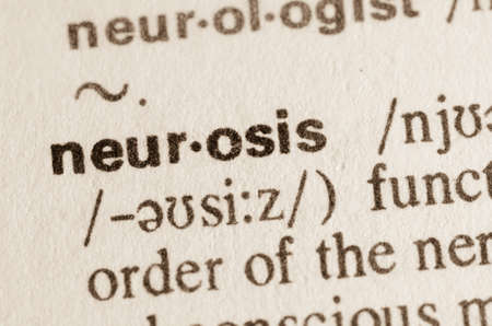 neurosis: Definition of word neurosis in dictionary Stock Photo