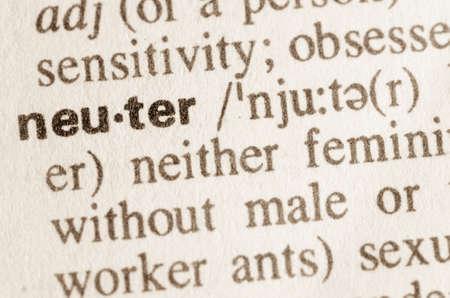 definicion: Definici�n de palabra neutra en el diccionario