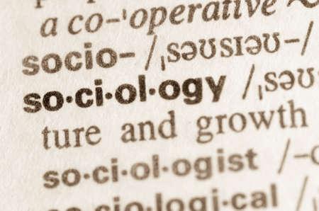 sociologia: Definici�n de la palabra en el diccionario de la sociolog�a Foto de archivo