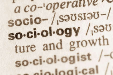 sociology: Definition of word sociology in dictionary Stock Photo