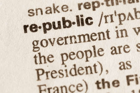 lexical: Definition of word republic in dictionary Stock Photo
