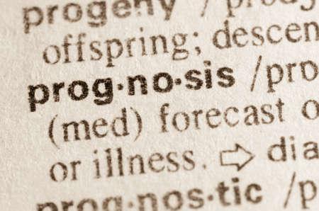 definicion: Definici�n de la palabra en el diccionario de pron�stico