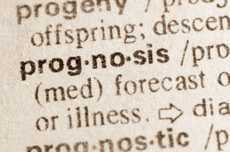 prognosis: Definition of word prognosis in dictionary