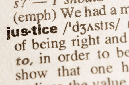 judicature: Definition of word in dictionary Stock Photo