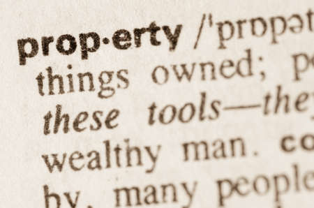 Definitie van woord woning in woordenboek Stockfoto
