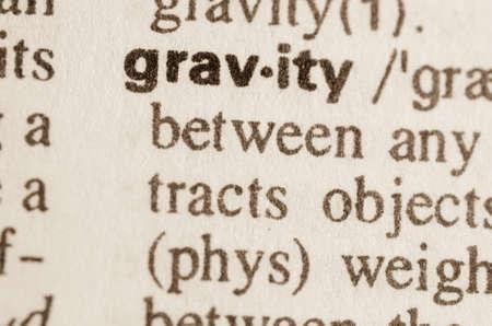gravity: Definici�n de la palabra en el diccionario de la gravedad