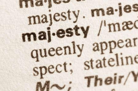 definición: Definición de la palabra en el diccionario de la majestad Foto de archivo