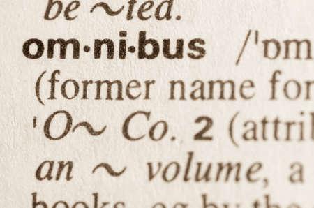 definicion: Definici�n de la palabra en el diccionario de �mnibus