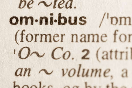 lexical: Definition of word omnibus  in dictionary