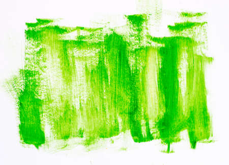 green abstract painted background texture Stock Photo