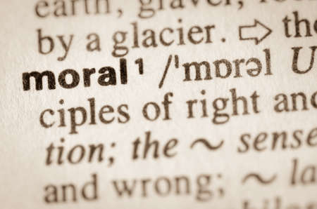 Definition of word moral in dictionary