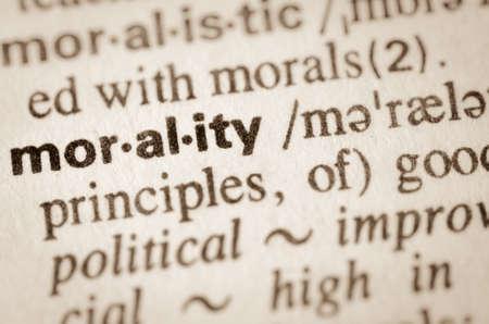 definición: Definición de la palabra en el diccionario de la moralidad