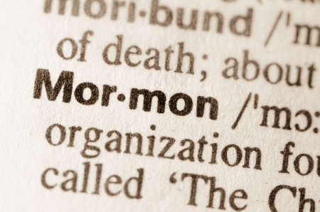 mormon: Definition of word Mormon in dictionary Stock Photo