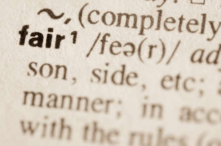 equitable: Definition of word fair in dictionary