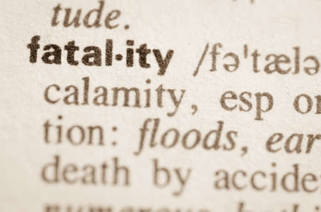 lexical: Definition of word fatality  in dictionary