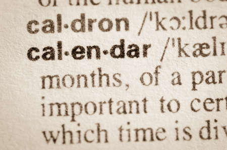 definicion: Definici�n del calendario de la palabra en el diccionario