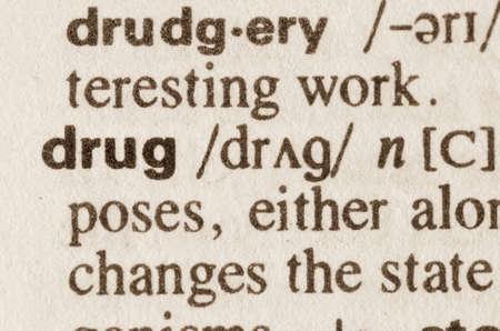 Definition of word drug  in dictionary