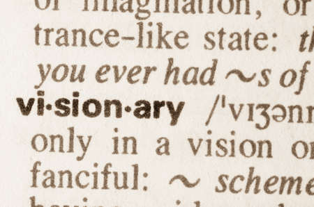 Definition of word visionary in dictionary Archivio Fotografico