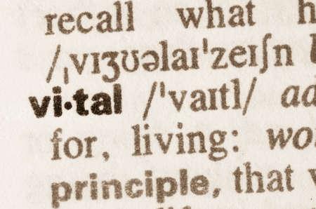 definicion: Definici�n de la palabra esencial en el diccionario Foto de archivo