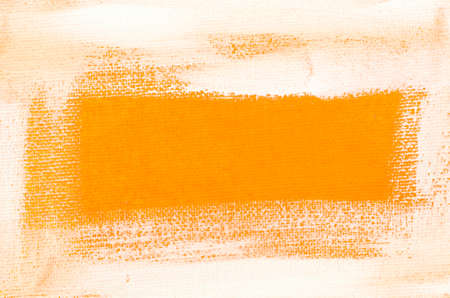 Arte verniciato bianco frontiera su sfondo arancione Archivio Fotografico - 39208092