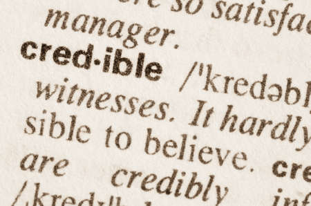 Definition of word credible in dictionary