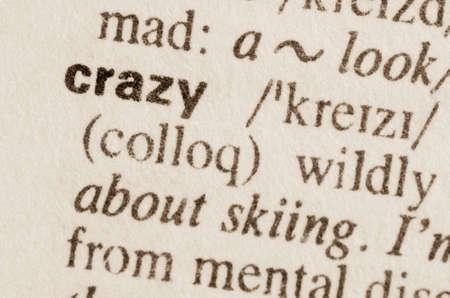 definicion: Definici�n de la palabra en el diccionario de locura