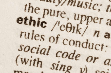 ethic: Definition of word ethic in dictionary