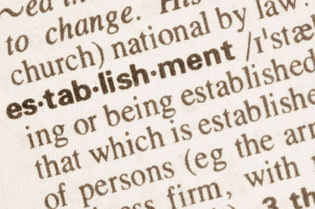 establishment: Definition of word establishment in dictionary