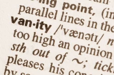 undertaking: Definition of word vanity  in dictionary