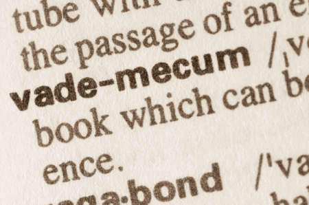 lexical: Definition of word vademecum in dictionary