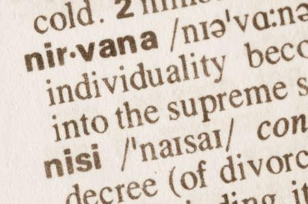 definición: Definición de la palabra nirvana en el diccionario