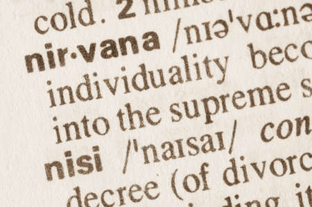 nirvana: Definition of word nirvana in dictionary Stock Photo
