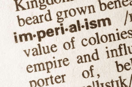 imperialism: Definition of word imperialism in dictionary Stock Photo