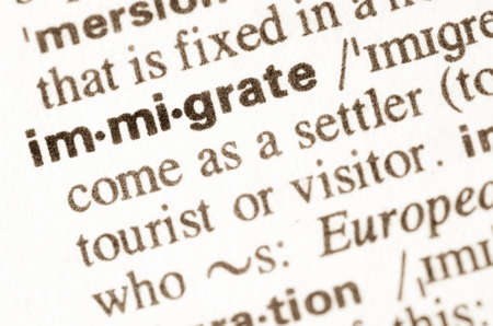lexical: Definition of word immigrate in dictionary