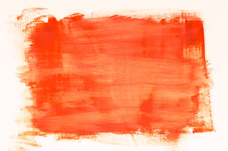 orange watercolor painting texture on white background