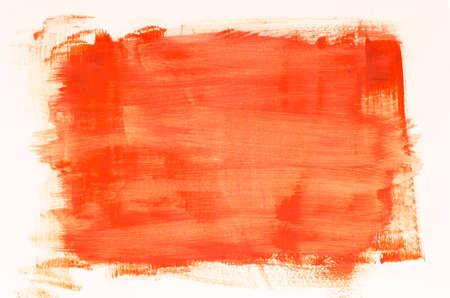 oranje aquarel schilderij textuur op witte achtergrond Stockfoto