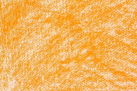orange crayon drawings on white paper background texture