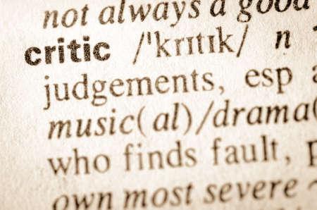 definicion: Definici�n de cr�tico de la palabra en el diccionario