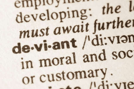 lexical: Definition of word deviant  in dictionary Stock Photo
