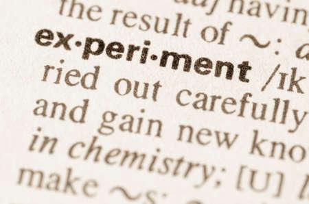definicion: Definici�n del experimento palabra en el diccionario