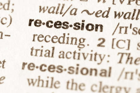 stagnation: Definition of word recession  in dictionary