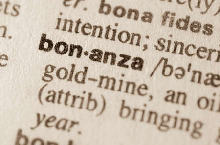 bonanza: Definition of word bonanza in dictionary
