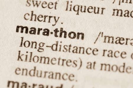 definición: Definición del maratón de la palabra en el diccionario